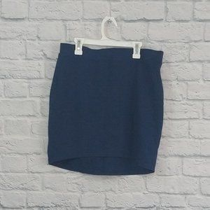 GAP Factory | Blue Space Dye Cotton Pull on Skirt